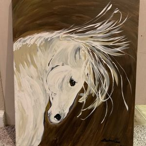 Hand painted horse.